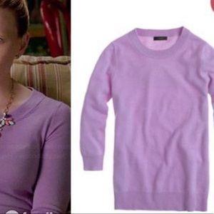 Jcrew lilac Italian cashmere sweater